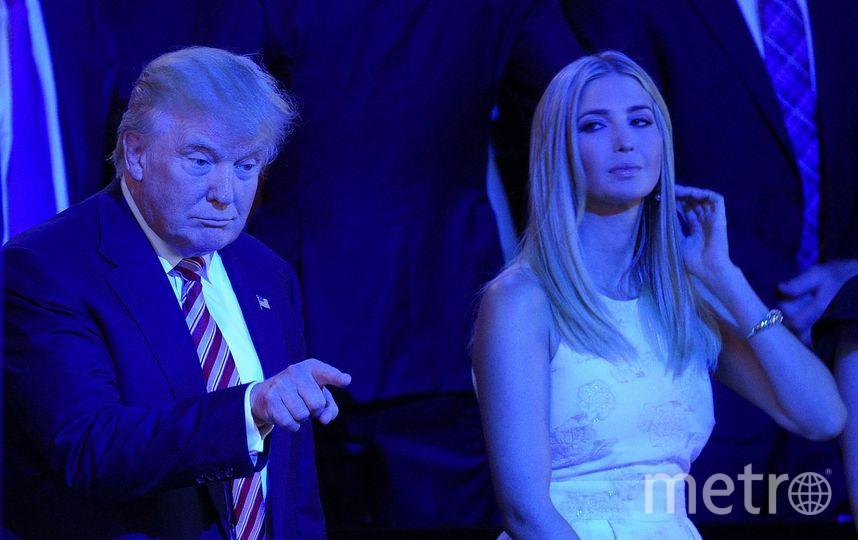 В гольфе и в радости: Дональд и Иванка Трамп провели совещание в гольф-клубе. Фото Getty