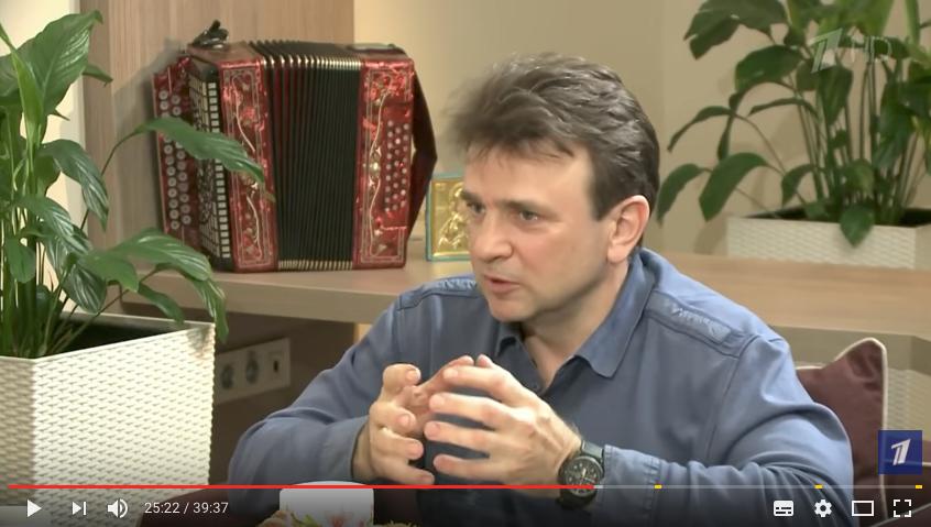 "Тимур Кизяков. Фото скриншот с блога ""Первого канала"" на YouTube"