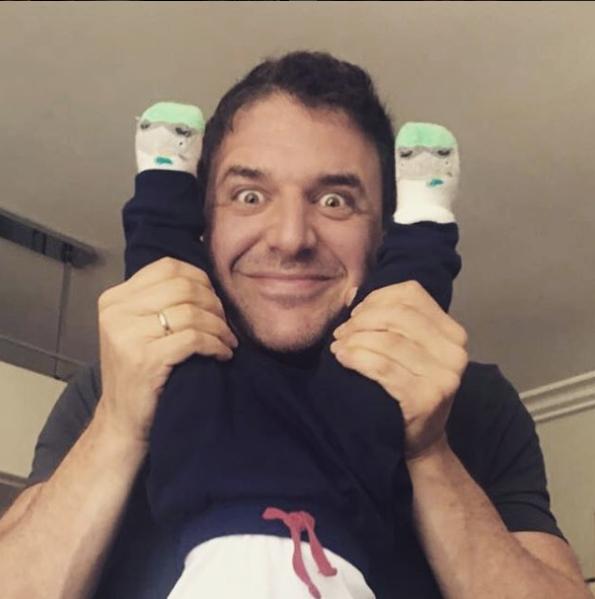 Максим Виторган с сыном. Фото официальный Instagram Ксении Собчак.