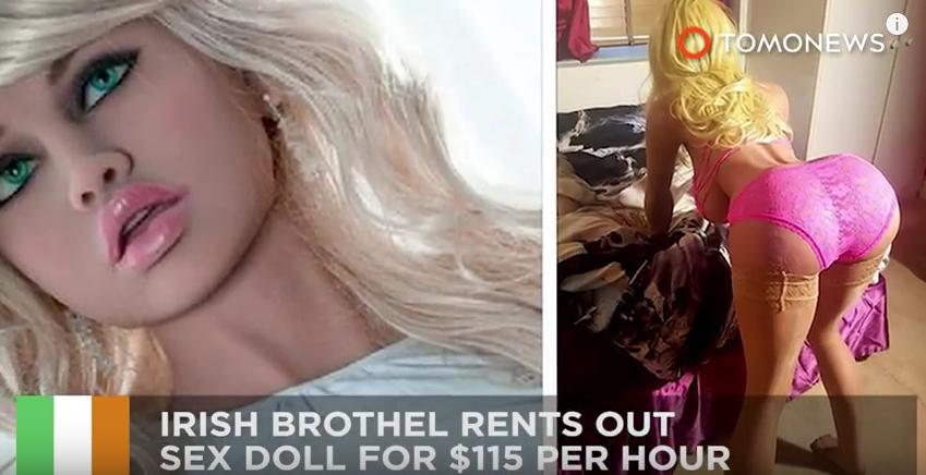 Блондинка-робот из дублинского борделя отняла клиентов у живых жриц любви. Фото Скриншот Youtube