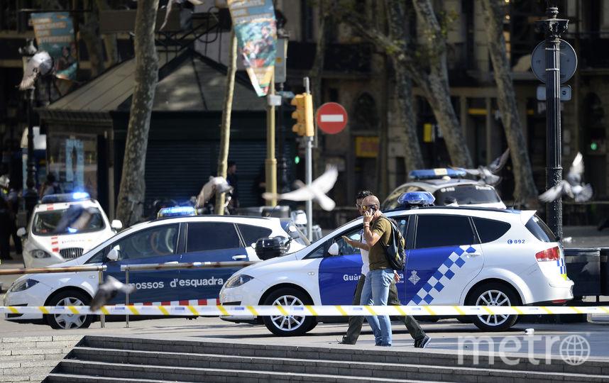 Место происшествия в центре Барселоны оцеплено. Фото AFP