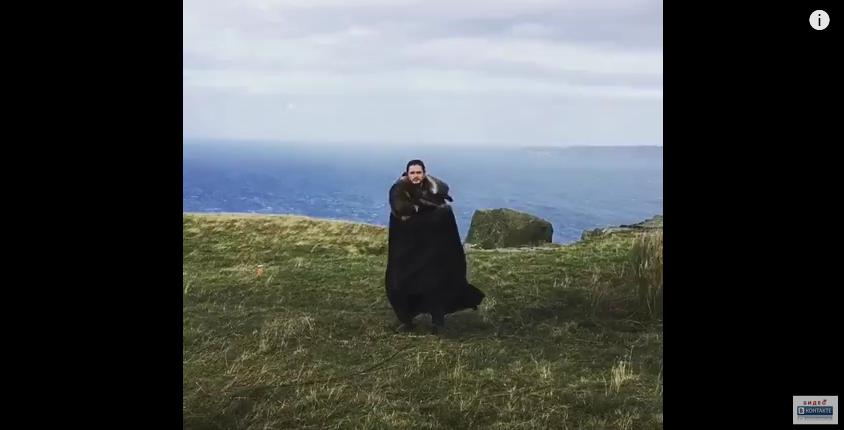 Кит Харингтон в образе Джона Сноу показал дракона и набрал 11 млн просмотров в Instagram. Фото Скриншот Youtube