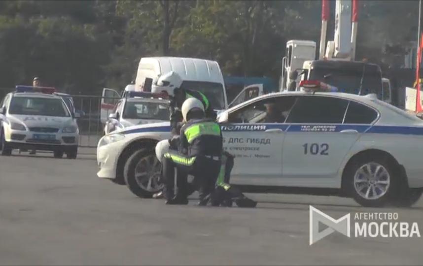 Соревнования по скоростному маневрированию в Москве. Фото Агентство городских новостей «Москва»