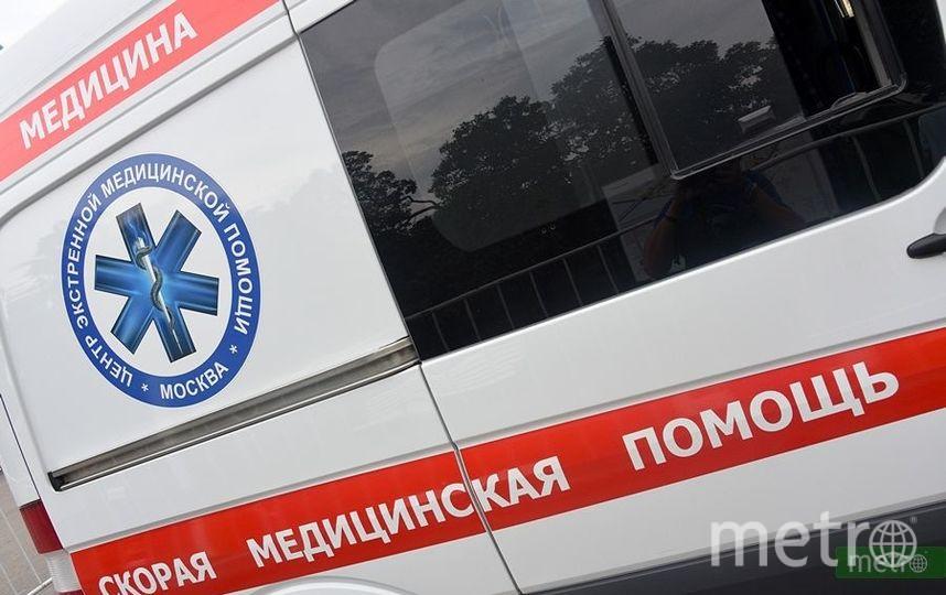 """Автобус и мотоцикл столкнулись на юго-востоке Москвы, есть пострадавшие. Фото Василий Кузьмичёнок, """"Metro"""""""