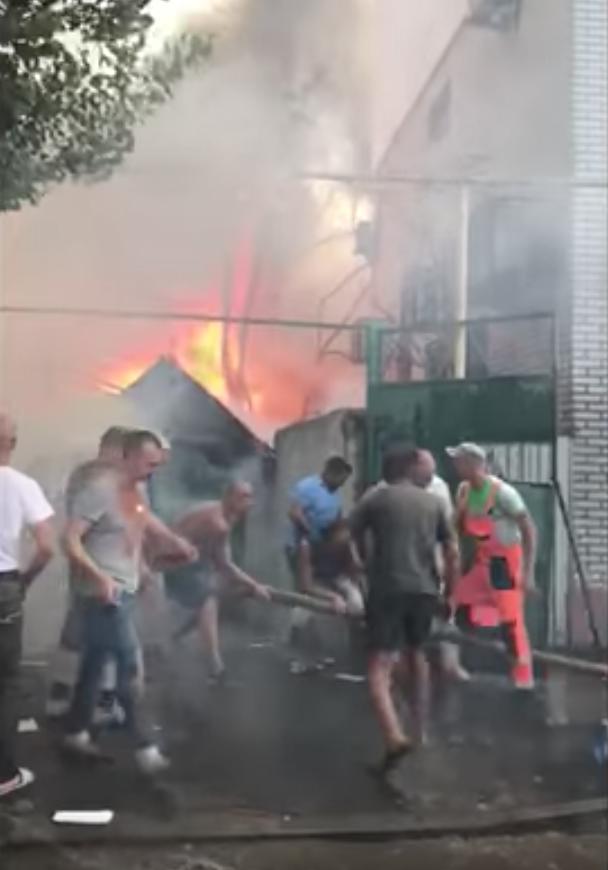 Страшный пожар охватил Ростов-на-Дону. Фото Скриншот Youtube