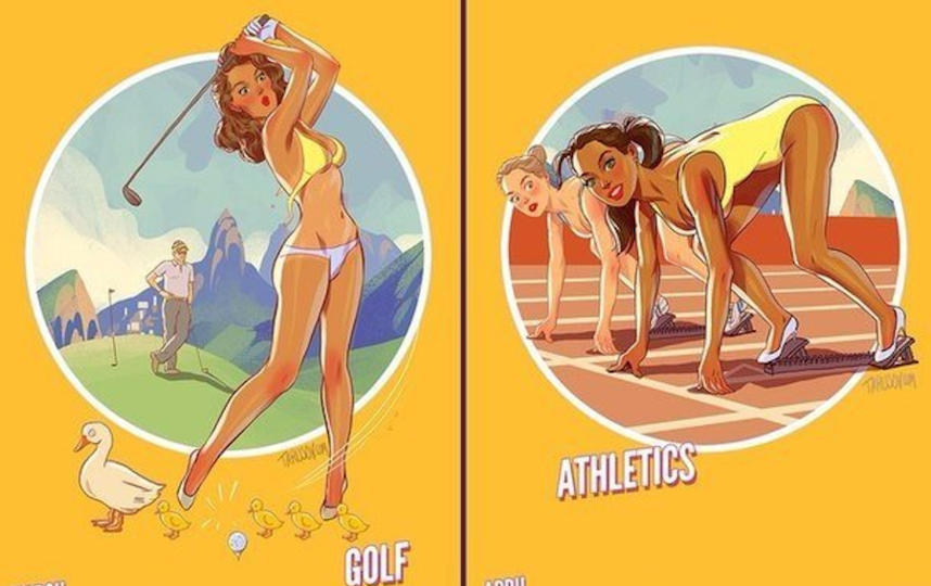 Плакаты Андрея Тарусова к Олимпиаде в Рио-де-Жанейро-2016. Архивное фото. Фото Андрей Тарусов.