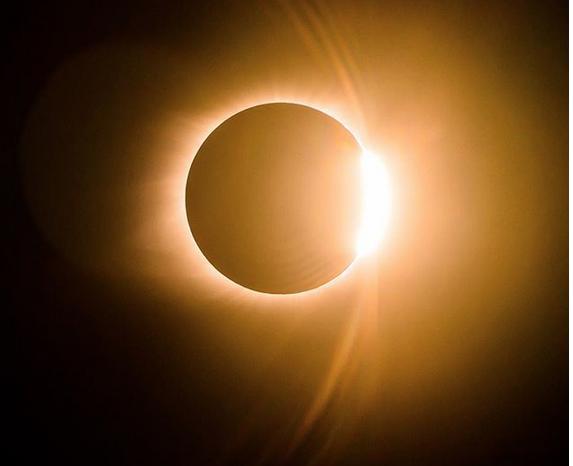 Великое солнечное затмение - 2017. Фото Скриншот www.instagram.com/dave.krugman/