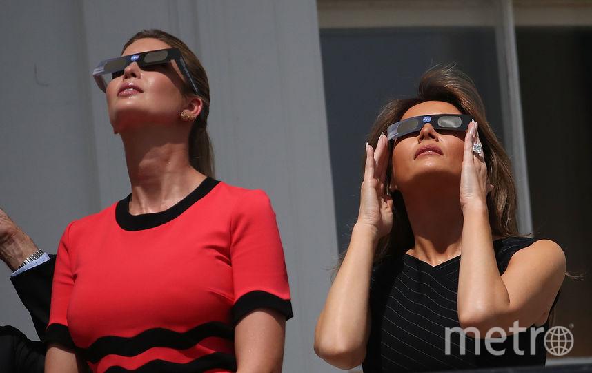 За затмением наблюдали миллионы американцев. В том числе Иванка Трамп. Фото Getty