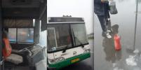 Автобус с пассажирами задымился на ходу на мосту Кадырова в Петербурге