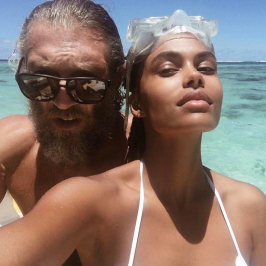 Венсан Кассель и Тина Кунаки. Фото Instagram Тины Кунаки