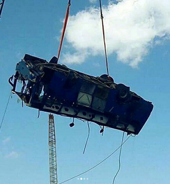 Фото автобуса появились в соцсетях.