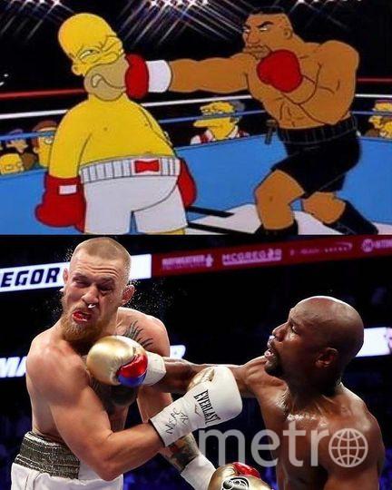 """Как это уже бывало ранее, итоги боя предсказали """"Симпсоны"""". Фото """"ВКонтакте"""""""