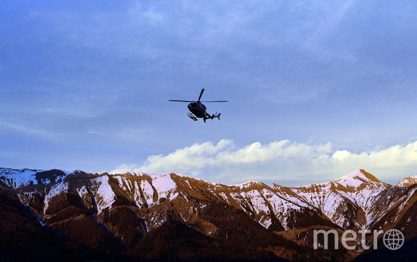 Спасательный вертолёт в Альпах. Фото Getty
