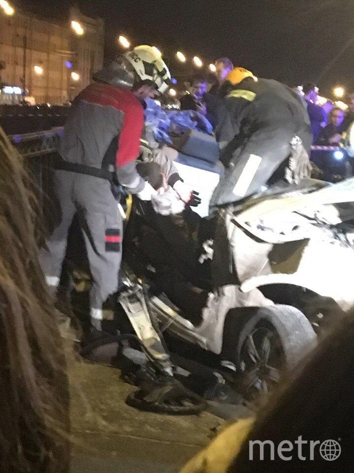 ДТП случилось вечером 27 августа в Петербурге. Фото vk.com