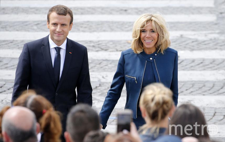 Президент Франции Эммануэль Макрон и его жена Брижит. Фото Getty