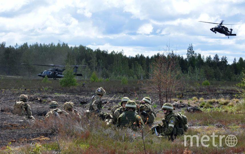 Военные учения сил НАТО в Латвии. Фото Getty
