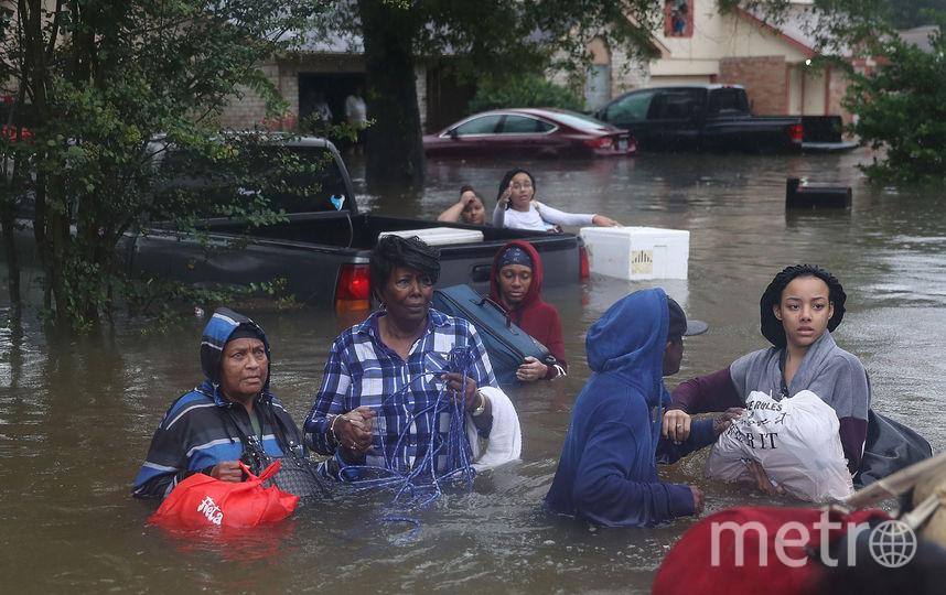 "Хьюстон. 28 августа. Ураган ""Харви"" стал сильнейшим ураганом на территории США за последние 12 лет. Фото Getty"