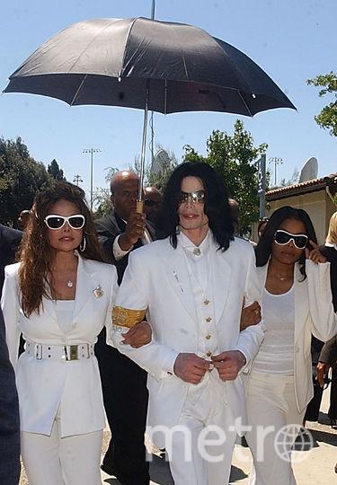 Майкл Джексон с сестрами, Ла Тойей и Джанет. Фото Getty