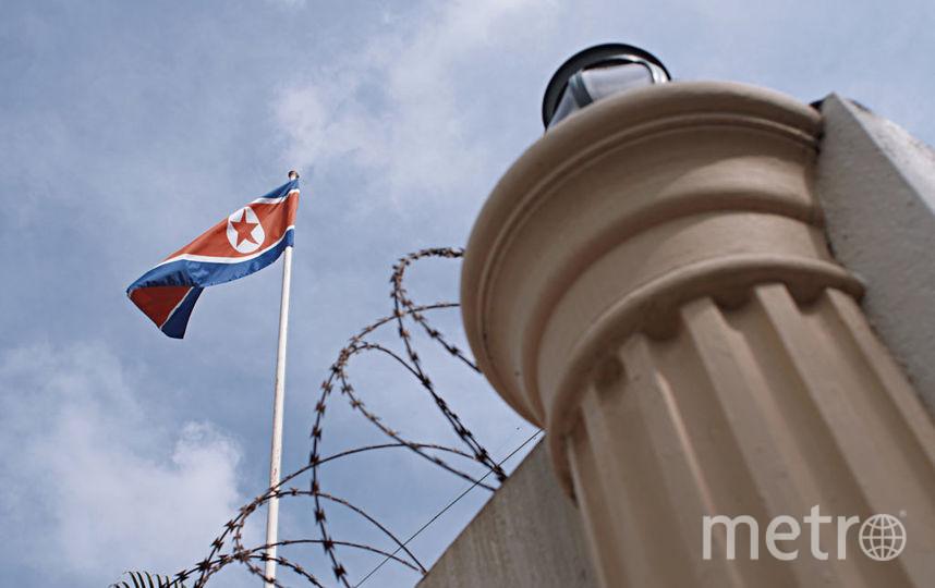 Флаг КНДР. Фото Getty