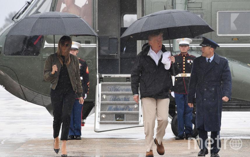 Дональд и Мелания Трамп прибыли в Техас. Фото AFP