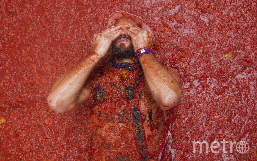 La Tomatina. Фото AFP