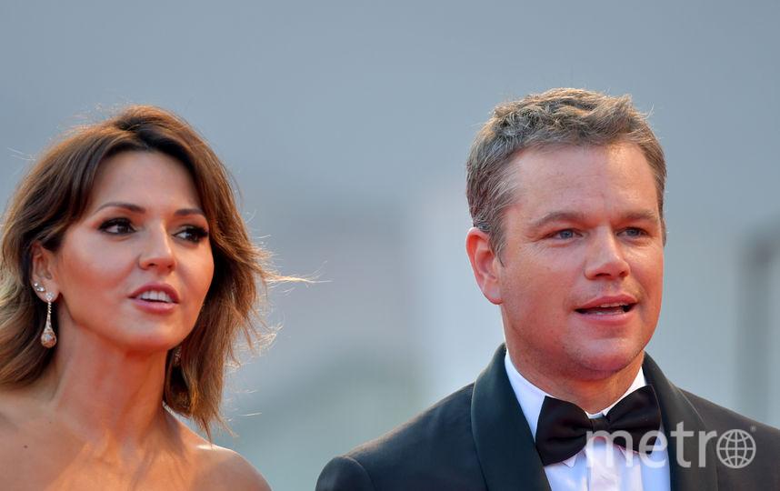 Мэтт дэймон и его супруга Люсьяна Баррозо. Фото AFP