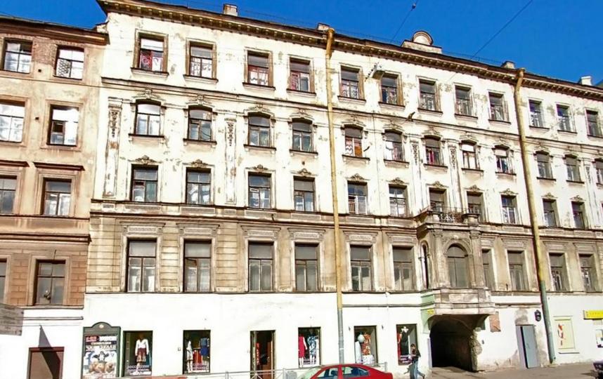 Садовая, 61 - дом, где находится квартира Лермонтова. Фото Скриншот Яндекс. Карты