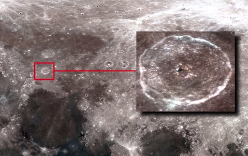 Высмотрел на Луне пирамиду пришельцев очередной 'охотник на НЛО'