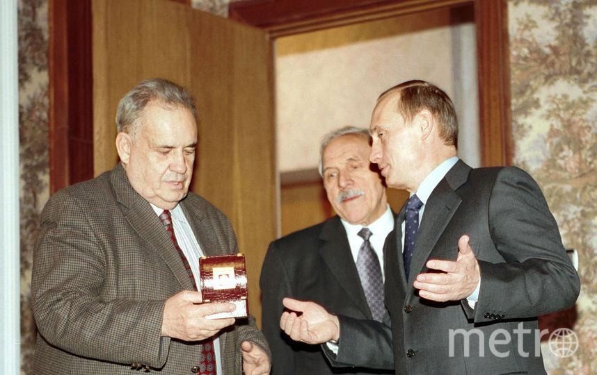 Эльдар Рязанов и Владимир Путин (архивное фото). Фото Getty