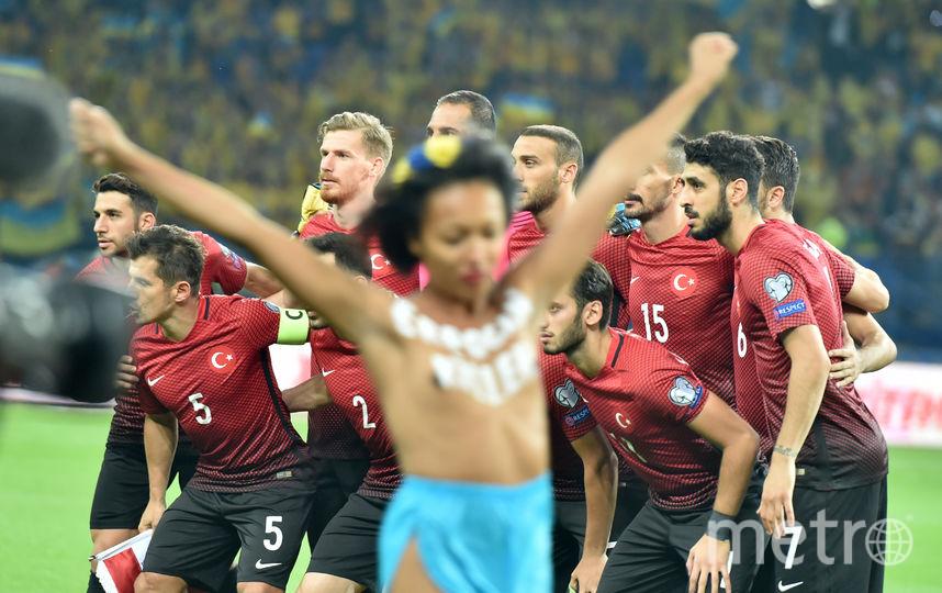Футбольный матч Украина – Турция. Фото AFP