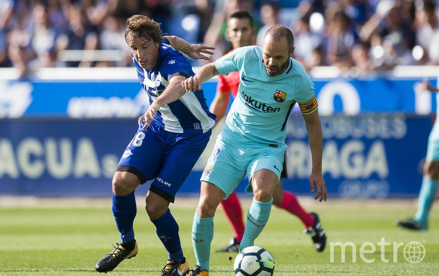 """Легенда """"Барселоны"""" Андрес Иньеста. Фото Getty"""
