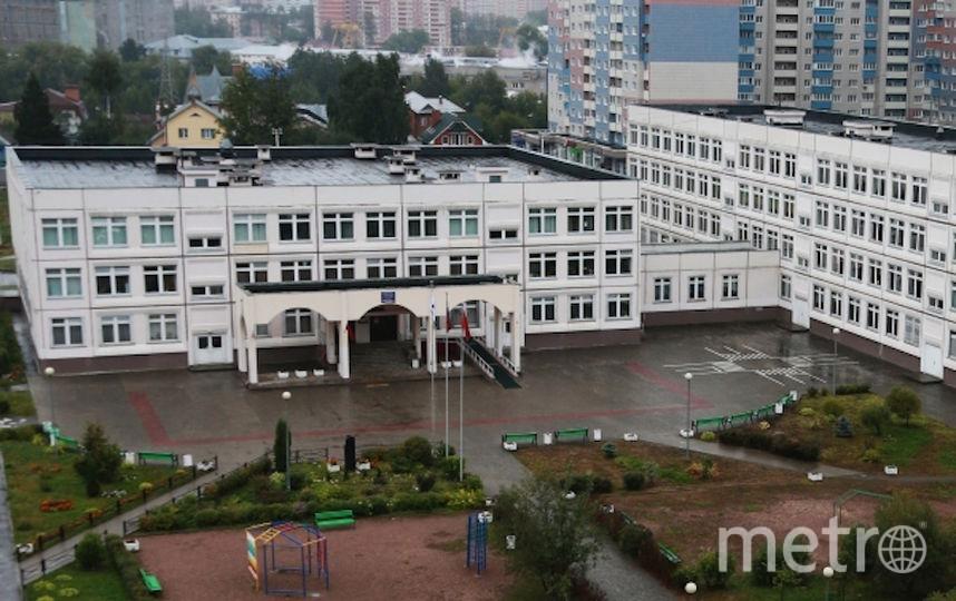 Здание школы в Ивантеевке, где произошла стрельба. Фото РИА Новости