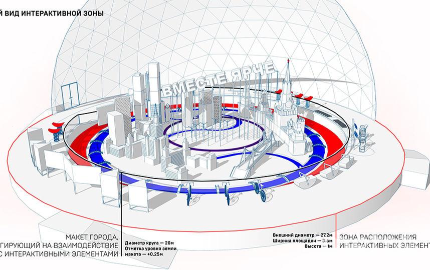 Здания на макете будут достигать шести метров в высоту. Фото mos.ru.
