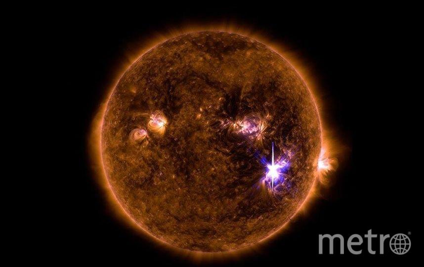Солнечная вспышка класса X9.3 - в середине Солнца 6 сентября 2017 года. Фото https://svs.gsfc.nasa.gov/12706