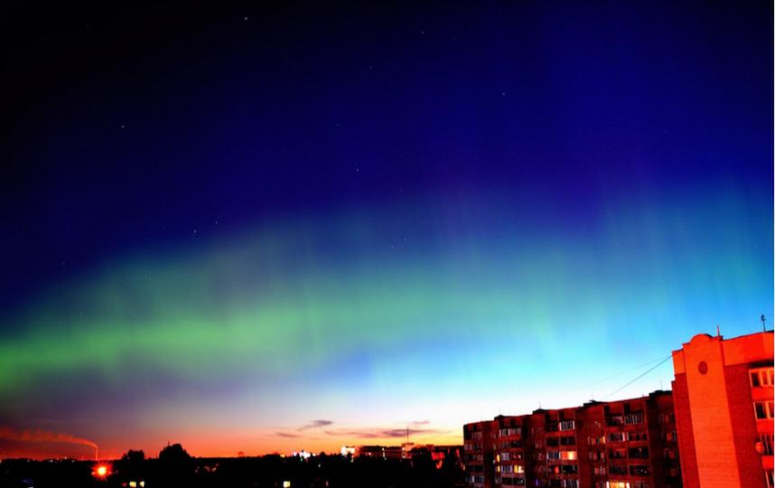 Полярное сияние ожидается над Москвой из-за сильной вспышки на Солнце. Фото Кирилл Янковский https://vk.com/jankowskyk.