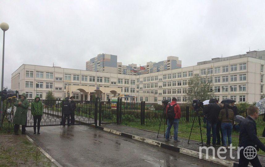 Школа в Ивантеевке, где произошёл инцидент. Фото Зинаида Мишина