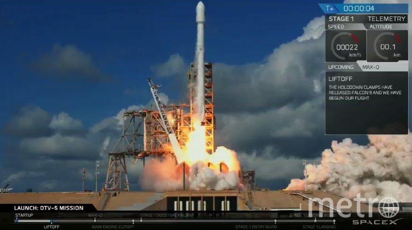 Старт корабля. Фото Twitter @SpaceX