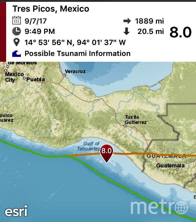 Мощное землетрясение в Мексике.