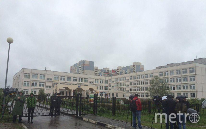 "Школа в Ивантеевке, где всё произошло. Фото Зинаида Мишина, ""Metro"""