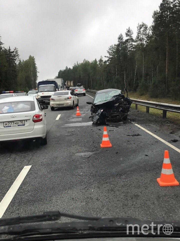 Жёсткое ДТП случилось на 78 км Мурманского шоссе.