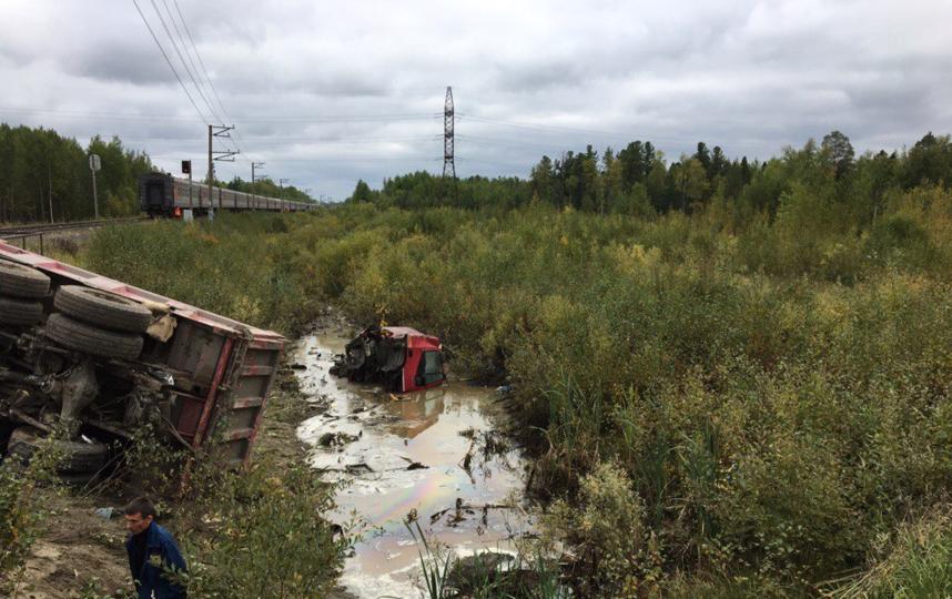 Место аварии. Фото скриншот со странички https://vk.com/4p86region