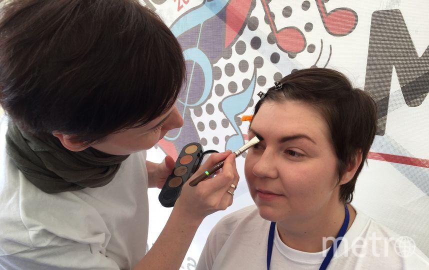 Работа стилистов из школы макияжа. Фото Виктория Вон.