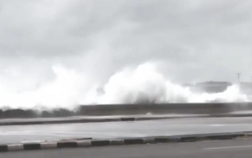 "Ураган ""Ирма"" набирает обороты. Фото Скриншот видео."
