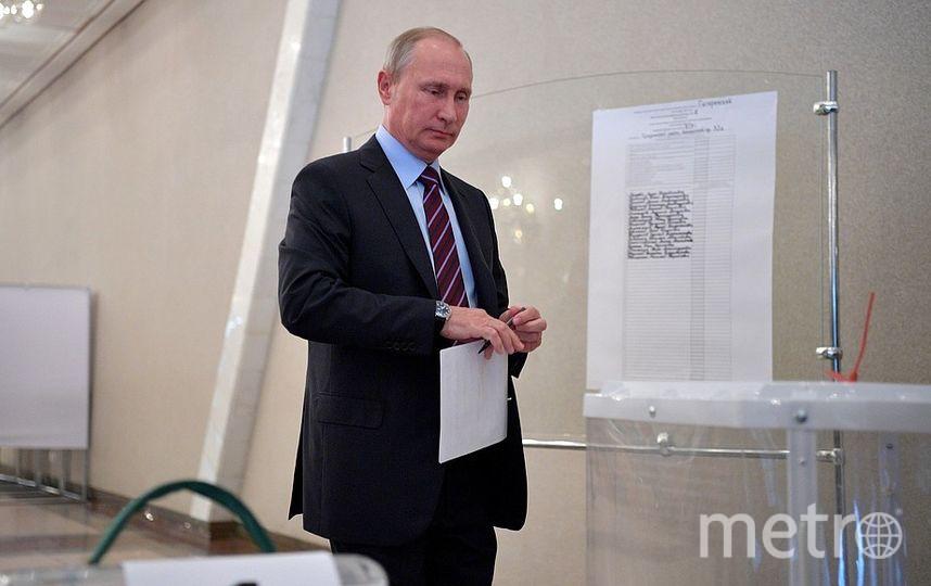 Путин на выборах в Москве. Фото kremlin.ru