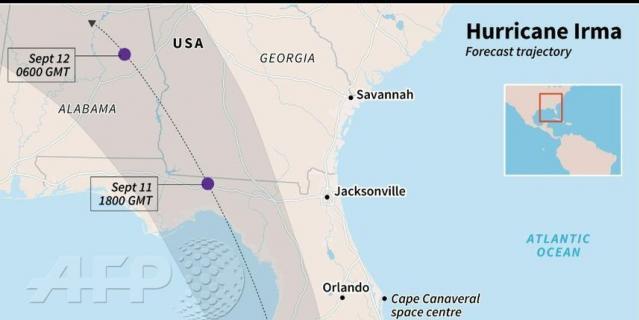 "Ураган ""Ирма"" достиг Флориды."
