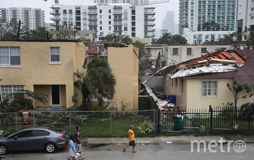 "Флорида попала под удар урагана ""Ирма"" 10 сентября. Фото Getty"