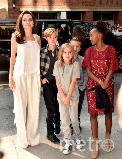 Анджелина Джоли. С ней приехали дочери Шайло, Вивьен и Захара и сын Нокс. Фото Getty