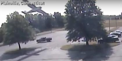 В Коннектикуте самолет врезался в дерево. Фото Cкриншот YouTube
