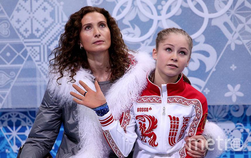 Фигуристка Юлия Липницкая с тренером. Фото Getty