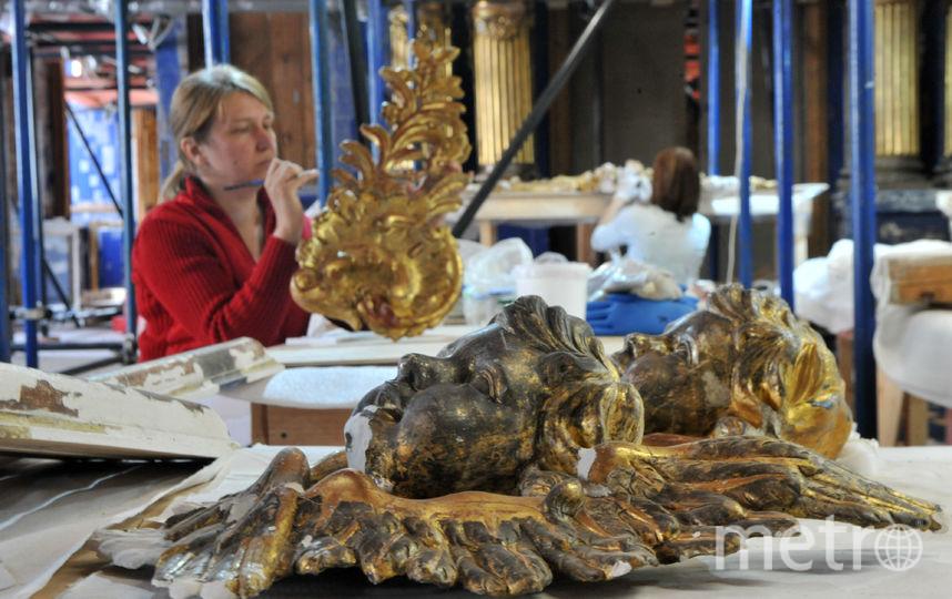 """Реставраци я в храме в Царском Селе. Фото """"Metro"""""""